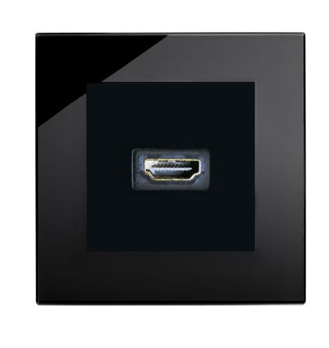 RetroTouch HDMI Socket Black Glass PG 00316